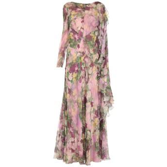 《セール開催中》ALBERTA FERRETTI レディース ロングワンピース&ドレス ピンク 40 シルク 100% / ナイロン