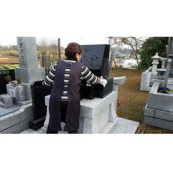 墓掃除作業