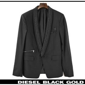 ディーゼルブラックゴールド DIESEL BLACK GOLD テーラードジャケット メンズ スタッズ装飾 ジップポケット シングル 1B 1釦 JIBORKIA die-m-o-81-434