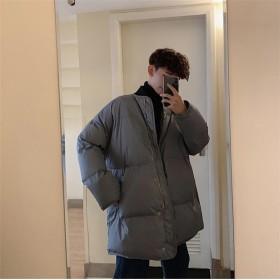 [55555SHOP] 【秋冬新品発売】ダウンジャケット メンズ ダウンコート アウターコート 中・長セクションコート 防寒軽量 高級感