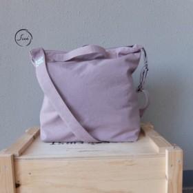 【機能が選べる】コットンキャンバスの3Wayショルダーバッグ(ピンク)