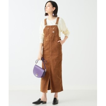 Lee × B:MING by BEAMS / 別注コーデュロイ サロペットスカート 18AW レディース ワンピース BROWN S