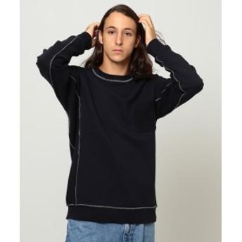BEAMS / リバースサイド スウェットシャツ メンズ スウェット NAVY S