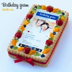 インスタ風写真ケーキ M バースデーケーキ 生クリームのショートケーキ