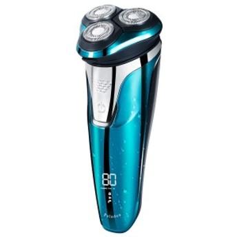 エメラルド・ブルーの美しい髭剃り 電気シェーバー