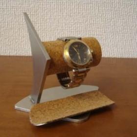 バレンタインデーに 2本掛けデザイン腕時計スタンド三角台座ロングトレイ ak-design N120402