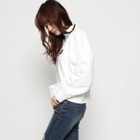 ニット・セーター - GUESS【WOMEN】 [GUESS] TRIANGLE LOGO MOCKNECK SWEAT
