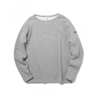 LOOPWHEELER × BEAMS PLUS / 別注 BOAT NECK メンズ スウェット 杢GREY XL
