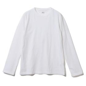 three dots / ロングスリーブ クルーネックカットソー メンズ Tシャツ WHITE/001 L