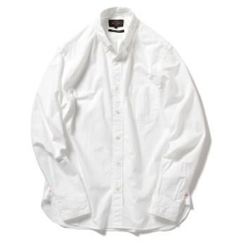 BEAMS PLUS / ペルーピマ ボタンダウンシャツ メンズ カジュアルシャツ WHITE L