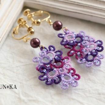 葡萄のイヤリング