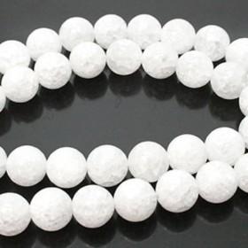 天然石 ビーズ ライン 卸売 クラッククリスタル(水晶) 丸玉ラウンドビーズパーツ 10mm