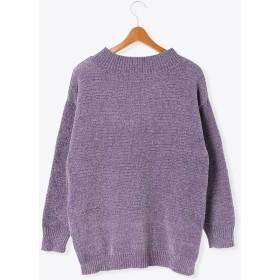 ニット・セーター - Lugnoncure モール糸天竺編みロングプルオーバー