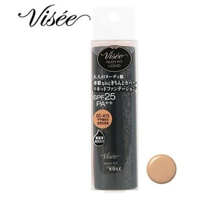 コーセー ヴィセ リシェ ヌーディフィット リキッド OC-415 やや暗めの自然な肌色 (30mL) SPF25 PA++ リキッドファンデーション VISEE