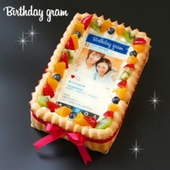 インスタ風写真ケーキ S バースデーケーキ 生クリームのショートケーキ