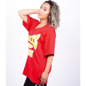 Tシャツ - babyshoop B系 レディース ファッション ストリート ダンス HOMIESプリントBIGT-SH8411
