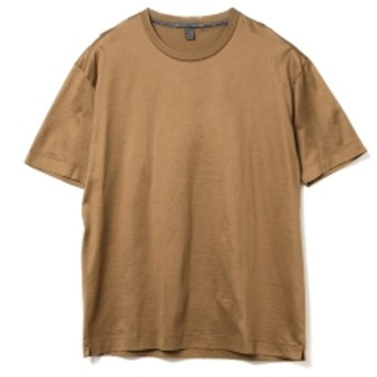 International Gallery BEAMS QUATTROCCHI / FILO DI SCOZIA クルーネック Tシャツ メンズ Tシャツ CAMEL 50