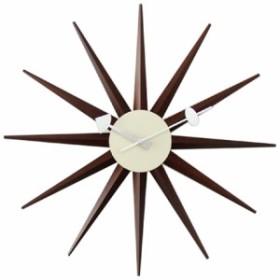 ジョージネルソン サンバーストクロック ウォールナット ウォルナット  掛け時計 正規ライセンス品