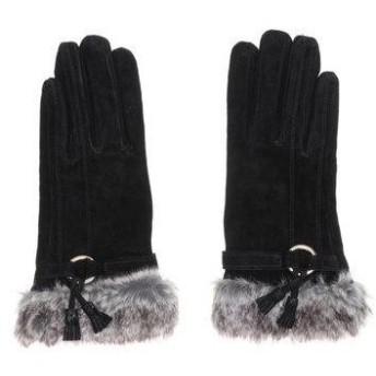 ドレスキップ DRESKIP ベルト付きふわふわ手袋 (ブラック)