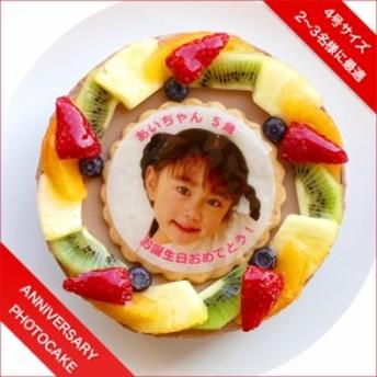 写真ケーキ フレッシュフルーツ乗せ生チョコクリームのショートケーキ 4号 12cm