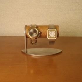 バレンタインデーに 腕時計 飾る かわいいリーフ台座2本掛け腕時計スタンド 90630の1