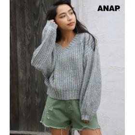 【セール開催中】ANAP(アナップ)MIXニットプルオーバー