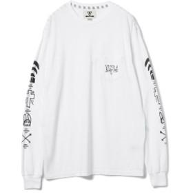 VISSLA / Jeff Ho ロングスリーブ Tシャツ メンズ Tシャツ WHITE M