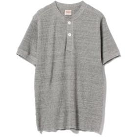 Healthknit / オープンエンド ワッフル ARMY ヘンリーネック Tシャツ メンズ Tシャツ H/GRY M