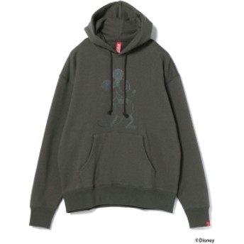 LOOPWHEELER × BEAMS JAPAN / 別注 吊り裏毛 プルオーバー パーカ メンズ パーカー CHARCOAL.G XL
