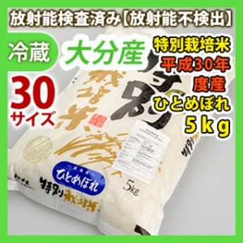 大分産【特別栽培米】平成30年度産 白米ひとめぼれ 5kg 同梱サイズ30【安心・安全の放射能検査済み!】