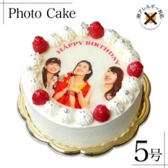 アレルギー対応 卵不使用 写真ケーキ ラズベリー デコレーション 生クリーム ショートケーキ 5号 15cm