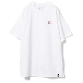 GIRL / ロゴ プリント Tシャツ メンズ Tシャツ WHITE L