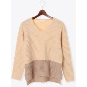 ニット・セーター - Te chichi 配色Vネックプルオーバー