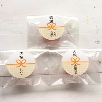 【名入れ無料 ♪】サンキューシール(のしシール) (ビタミンカラー チェック)