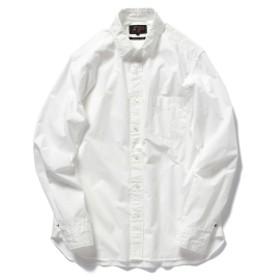 BEAMS PLUS BEAMS PLUS / ペルーピマ ラウンドカラーシャツ メンズ カジュアルシャツ WHITE L