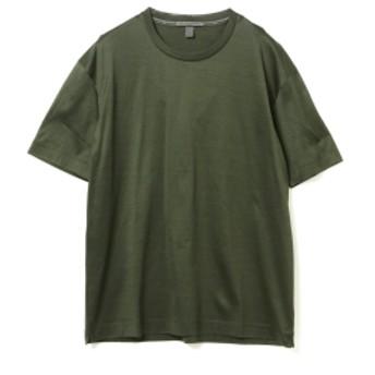 International Gallery BEAMS QUATTROCCHI / FILO DI SCOZIA クルーネック Tシャツ メンズ Tシャツ FOREST 50