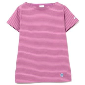 ビームス ウィメン ORCIVAL × Ray BEAMS / 別注 ボーダー Tシャツ レディース PURPLE - 【BEAMS WOMEN】