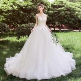 ホワイト チュール プリンセス チュールドレス マキシ丈 上品 ロングドレス 編み上げ ホルターネック おしゃれ ウェデイングドレス 高級