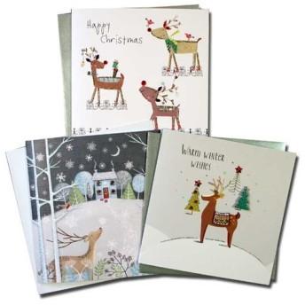 クリスマスカード 「テーマ別」 82 トナカイ三点セット A xm-072
