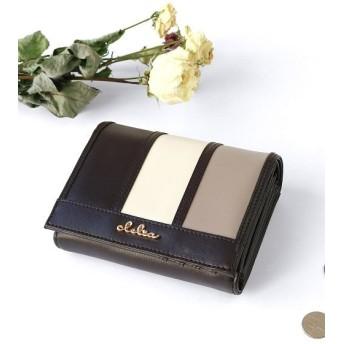 カッズ 二つ折り財布 レディース 大容量 大きめ ストライプ フラップ レディース その他 F 【KAZZU】