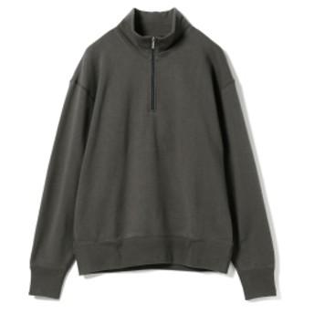 LOOPWHEELER × BEAMS JAPAN / 別注 吊り裏毛 ハーフジップ スウェットシャツ メンズ スウェット CHARCOAL.G L