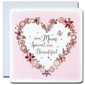 Second Nature 母の日カード 「ピンク色の夢」 03 花のハート 17moth-003