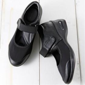 5Eストレッチパンプス - セシール ■カラー:ブラック ■サイズ:M(23.0-23.5cm),LL(25.0-25.5cm),S(22.0-22.5cm)