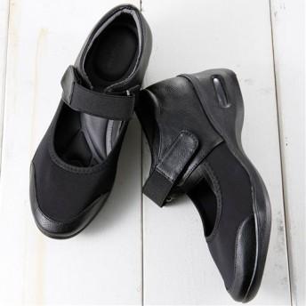 5Eストレッチパンプス - セシール ■カラー:ブラック ■サイズ:LL(25.0-25.5cm),S(22.0-22.5cm),M(23.0-23.5cm),L(24.0-24.5cm)