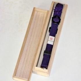 組紐ネックストラップ(カメラ用) 加賀錦紫袋織(約4分幅、5尺長) SK-1504701
