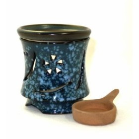 常滑焼 茶香炉 冨仙窯 なでしこ彫 日本製
