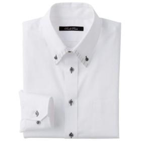 30%OFF【メンズ】 形態安定デザインYシャツ(ゆったりシルエット)(長袖) ■カラー:ホワイト・ドビー ■サイズ:39(裄丈78),43(裄丈82),43(裄丈84),45(裄丈84),47(裄丈86),50(裄丈88)