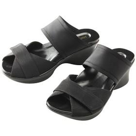 勝野式 足うらを癒すサンダル - セシール ■カラー:ブラック ■サイズ:M(22.5-23.5cm),L(24.0-25.0cm)