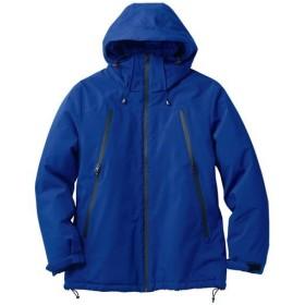 【メンズ】 ファスナー使いデザイン中綿ジャケット。軽くて保温性の高い中空糸中綿が◎ ■カラー:ダークブルー ■サイズ:M,L,LL,3L,5L