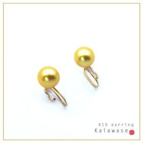 あこや真珠 いろなチャームの組み合わせを楽しめる イヤリング パール ゴールド 8.5mm K10 レディース